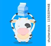 cute  little  funny the cow...   Shutterstock .eps vector #1150309448