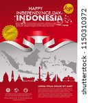 independence day indonesia... | Shutterstock .eps vector #1150310372