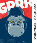 angry gorilla background | Shutterstock .eps vector #1150312055