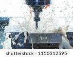 milling metalworking process.... | Shutterstock . vector #1150312595