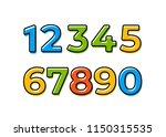 set of ten numbers form zero to ... | Shutterstock .eps vector #1150315535
