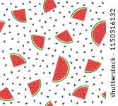 seamless watermelons pattern.... | Shutterstock .eps vector #1150316132