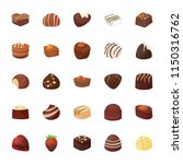 assorted chocolates vector... | Shutterstock .eps vector #1150316762