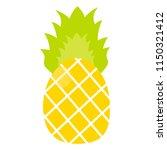 tropical fruit ananas | Shutterstock .eps vector #1150321412
