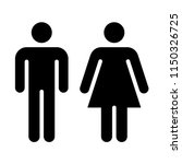 man and woman pictogram | Shutterstock .eps vector #1150326725