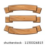 set of wooden plates. tape for... | Shutterstock .eps vector #1150326815