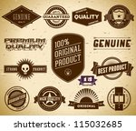 set of vintage labels on the... | Shutterstock .eps vector #115032685