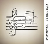 music violin clef sign. g clef...   Shutterstock .eps vector #1150331615