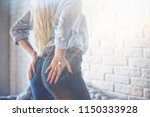 sexy ass in jeans   hard style  ... | Shutterstock . vector #1150333928