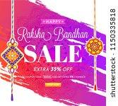 raksha bandhan sale banner or... | Shutterstock .eps vector #1150335818