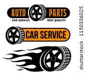 car wheel vector emblems set  | Shutterstock .eps vector #1150336025