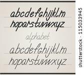 handwritten alphabet | Shutterstock .eps vector #115033945