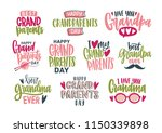 collection of grandparents day... | Shutterstock .eps vector #1150339898