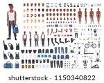 african american sportsman or... | Shutterstock .eps vector #1150340822
