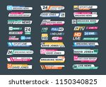 collection of tv news bars for... | Shutterstock .eps vector #1150340825