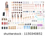 traveler girl constructor or... | Shutterstock .eps vector #1150340852