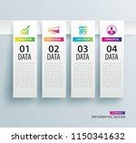 infographics tab in vertical...   Shutterstock .eps vector #1150341632