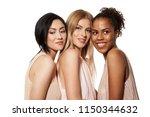 portrait of three gorgeous...   Shutterstock . vector #1150344632
