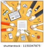 business team make a... | Shutterstock .eps vector #1150347875