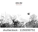 hand drawn black and white... | Shutterstock .eps vector #1150350752