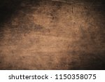 old grunge dark textured wooden ... | Shutterstock . vector #1150358075