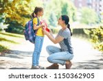 parent and pupil of primary... | Shutterstock . vector #1150362905