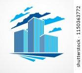 business building  modern... | Shutterstock .eps vector #1150363772