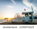 Santa Monica Pier At Sunset ...
