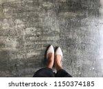top view shot everyday look of... | Shutterstock . vector #1150374185