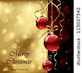 christmas background with... | Shutterstock .eps vector #115037542