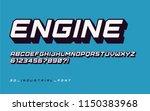 styled sans serif industrial... | Shutterstock .eps vector #1150383968