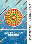 onam boat festival background.... | Shutterstock .eps vector #1150384475