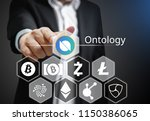 concept of ontology coin or ont ... | Shutterstock . vector #1150386065