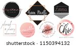 feminine logo set in black ... | Shutterstock .eps vector #1150394132