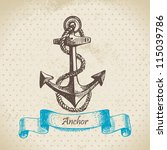 anchor. hand drawn... | Shutterstock .eps vector #115039786