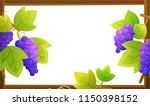 frame of vines with purple... | Shutterstock .eps vector #1150398152