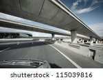 Driving Under Overpass Road...
