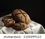 homemade rye bread. rustic... | Shutterstock . vector #1150399112