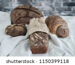 different kinds of homemade rye ... | Shutterstock . vector #1150399118
