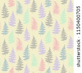 fern frond herbs  tropical... | Shutterstock .eps vector #1150400705
