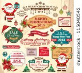 collection of christmas... | Shutterstock .eps vector #115040542