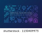 startup horizontal colored...   Shutterstock .eps vector #1150409975