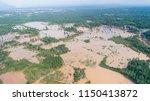 the level of flood after dam... | Shutterstock . vector #1150413872