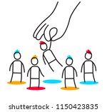vector business illustration of ... | Shutterstock .eps vector #1150423835
