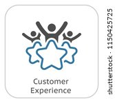 customer experience line icon.... | Shutterstock .eps vector #1150425725