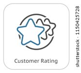 customer rating line icon....