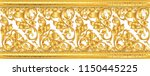 seamless golden ornamental... | Shutterstock .eps vector #1150445225