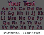 vector letters  alphabet in... | Shutterstock .eps vector #1150445405