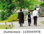 3 boys   a family of hasidic... | Shutterstock . vector #1150445978
