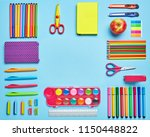 stationery is outlined in the...   Shutterstock . vector #1150448822